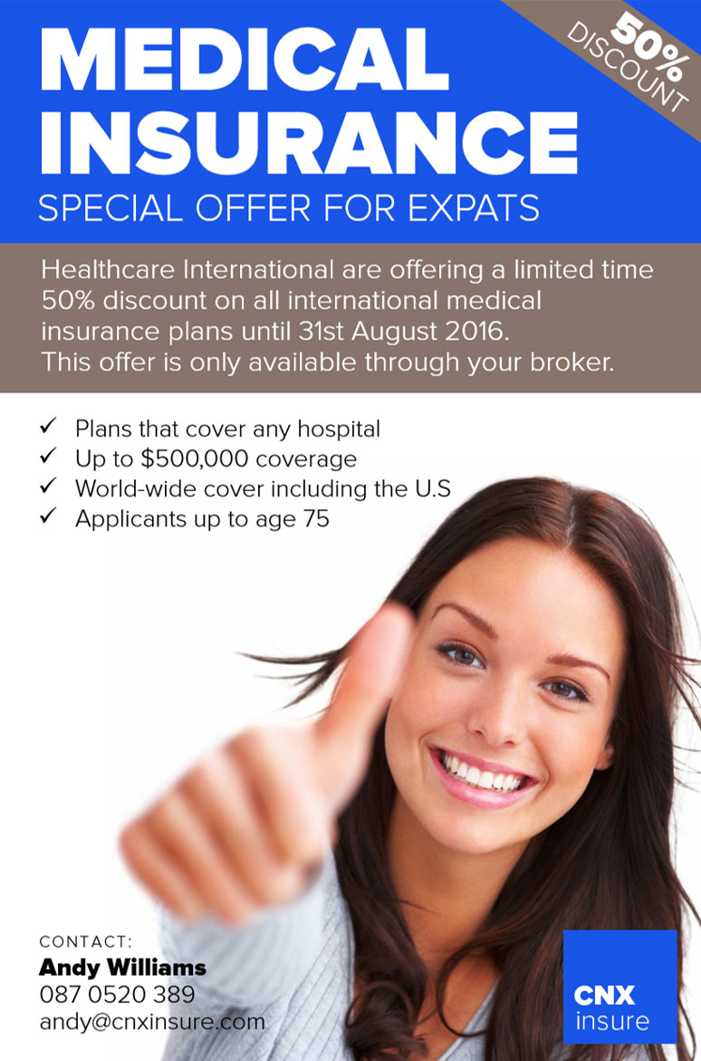 50% International Health Care Insurance